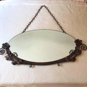 Miroir ovale en fer forgé – 1920/1930